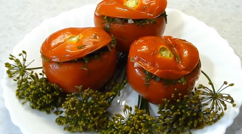 Малосольные помидоры суточные – вкуснейшие, ароматные, остренькие