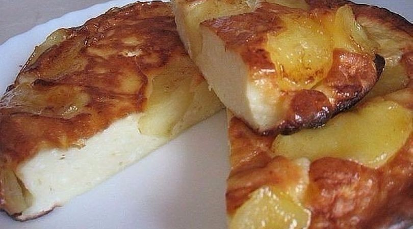 Творожно-яблочный пирог — просто тает во рту