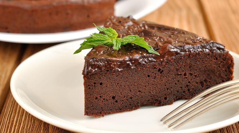 Шоколадный пирог без яиц в мультиварке