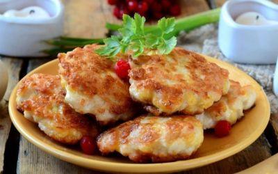 Простые котлетки с сыром и оригано